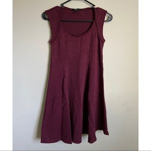 Maroon Red Wine Skater Dress 🛹